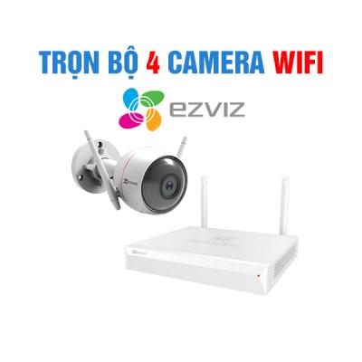 Trọn Bộ 4 Camera Wifi Ezviz thân ống CS-CV310(A0-1C2WFR)
