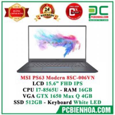 Laptop MSI PS63 8SC-006VN